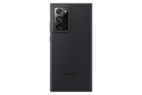 Samsung Leather Smartphone Cover EF-VN985 für Galaxy Note20 Ultra 5G Handy-Hülle, echtes Leder, Schutz Hülle, stoßfest, premium, schwarz