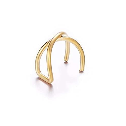 Pendiente de clip de hoja de oro para mujer sin Piercing Puck Rock Vintage Crystal Ear Cuff Girls Jewerly-e875cjin