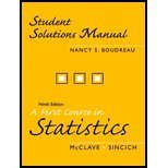 First Course in Statistics-Student Solution Manual 0131499874 Book Cover