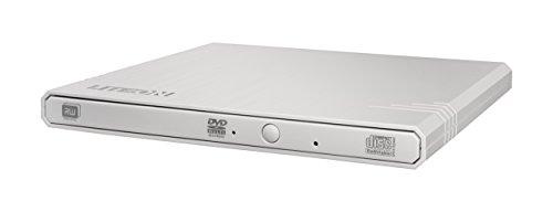 Lite-On Externes DVD-Laufwerk - External Slim USB DVD-RW (Bequeme Stromversorgung über den USB-Anschluss - SMART Burn für max. Schreibqualität - optimierte Lesegeschwindigkeit) 8X External Weiß