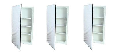 National Brand Alternative 561280 Aluminum Nutone Recessed Plastic Medicine Cabinet, 16″ x 20″ (3-(Pack))