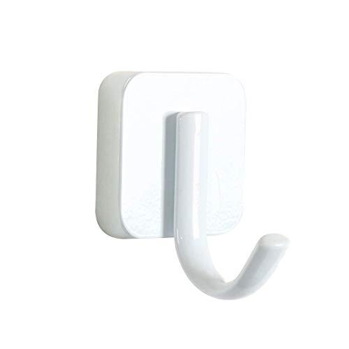 YeVhear - Toallero de acero inoxidable con percha de almacenamiento, organizador de pared, material de baño, pintura cuadrada blanca