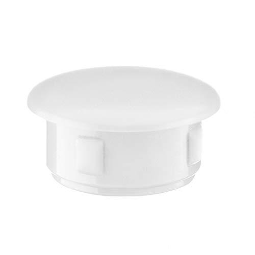 Abdeckstopfen 36x30 mm Weiß | 25 Stück | Blindstopfen Kunststoff Verschlusskappe