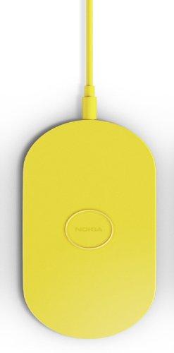 Nokia DT-900 Wireless Charging Plate Drahtloses Tragbares Ladegerät für Lumia 820/920/925/930/1020/1520 (3-pin UK Netzstecker) - Gelb