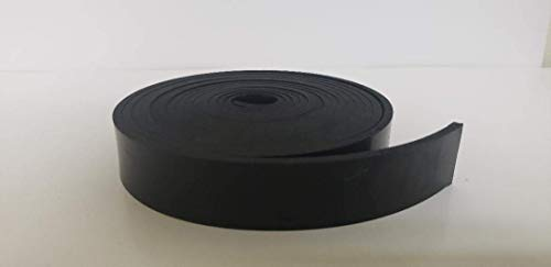 "Neoprene Rubber Strip.125"" (1/8"") Thick x 2"" Wide x 10' Long - Commercial Grade 65A, Smooth Finish, Solid Rubber, Perfect for Weather Stripping, Gasket, Costume & DIY Projects …"
