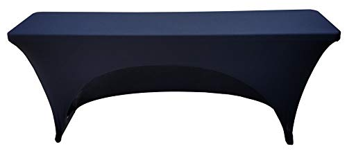 18x96 8 Foot Rectangular Stretch Spandex Cover for Training Tables (Black)