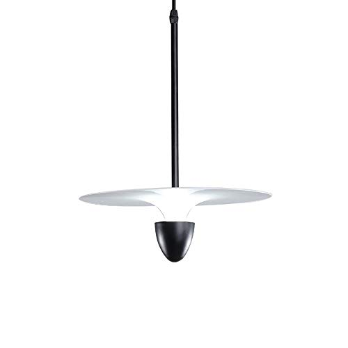 Kroonluchter LED enkele kop vliegende schotel kroonluchter persoonlijkheid hanglamp nachtkastje bar restaurant cafe shop 30 * 30 * 40 cm hangend licht (kleur: zwart)