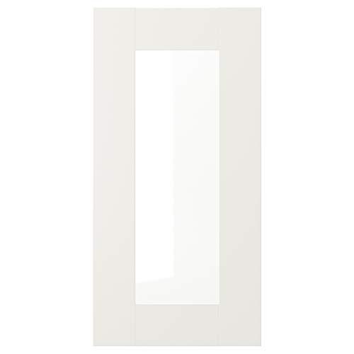 SÄVEDAL - Puerta de cristal (30 x 60 cm), color blanco
