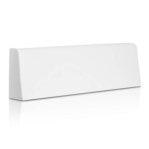 SUENOSZZZ-ESPECIALISTAS DEL DESCANSO Cojín Respaldo para Sofas de palets, cojin Chill out Relleno con Espuma y enfundado en Polipiel Color Blanco