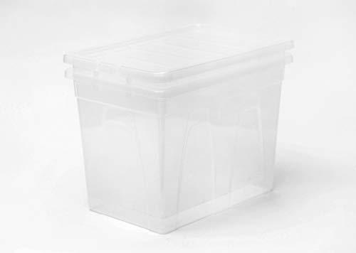 5 x 80 Litre Plastic Storage Box - Extra Large - Storage Container - Black...
