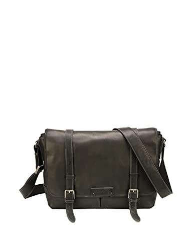 Arthur et Aston 54020 - Bolso de piel, 38 x 10 x 28 cm, color negro