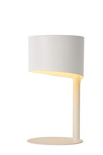 Lucide KNULLE - Tischlampe - Ø 15 cm - 1xE14 - Weiß