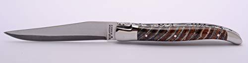Laguiole en Aubrac Handmade Luxury Double Plated Folding Pocket Knife, 4.8-in (12cm). Polished Light...