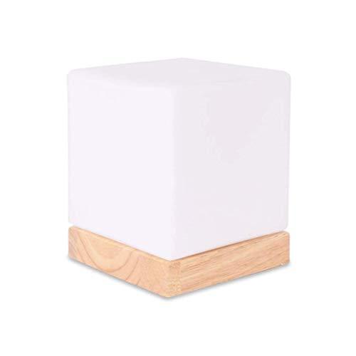 JJZXD Diseños Simples de Cristal Gota de Agua Cortina de la Tela lámpara de Mesa, Conveniente for el Lado de la Cama, Sala de Estar de la lámpara Blanca Clara