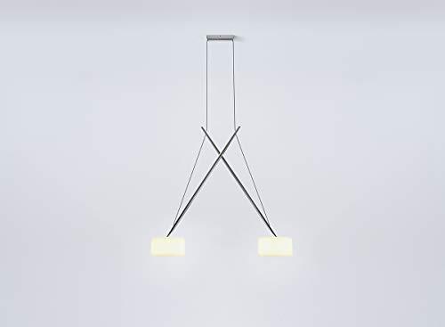 Serien Lighting - Twin Pendelleuchte - glanzverchromt - Hans Karuga - Design - Hängeleuchte - Wohnzimmerleuchte