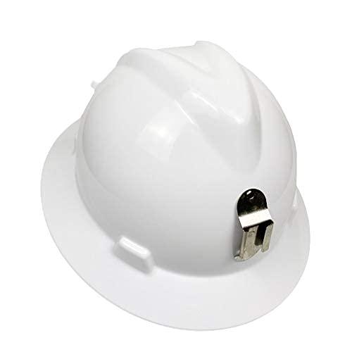 Casco de construcción para minero masculino con portalámparas de minero Construcción de ala grande Casco de seguridad con protección solar anti-rotura
