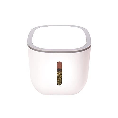 Recipientes Almacenamiento de Arroz, 10 kg Recipiente de Cocina Almacenaje de Tarro de Alimentos con Boquilla Medidora para Harina Azúcar Arroz Comida