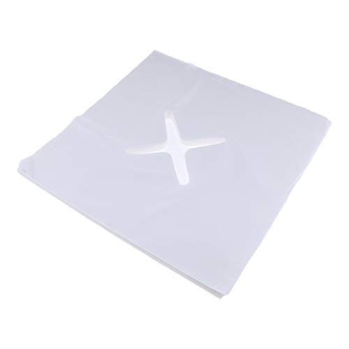 200 Stk Nasenschlitztuch Gesichtsauflage Massageliege Auflage Kopfstützenbezug Einwegauflage Einmal Auflage, weiß - S