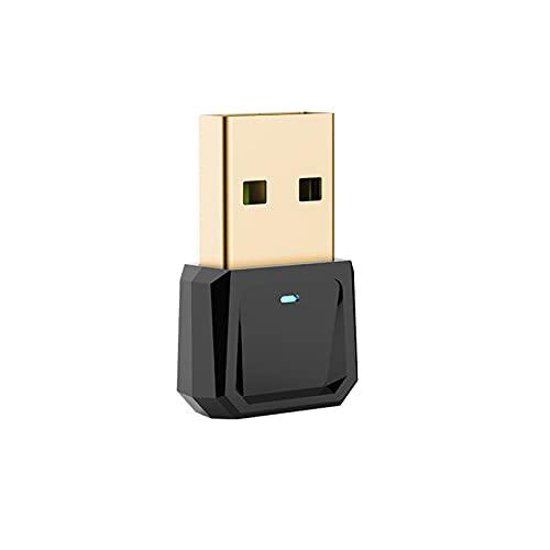 Auleset Adaptador USB Bluetooth 5.0 Transmisor de Audio Receptor para PC Impresora - Adaptador negro + Disco