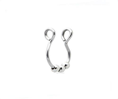 Piercing de plata para la nariz, anillo de nariz, tabique no piercing para el cuerpo