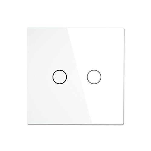 MOES WiFi Wall Touch Switch Kein neutraler Draht erforderlich Drahtlose Fernbedienung Smart Single Wire 2 Gang Wandschalter Arbeiten Sie mit Alexa Google Home