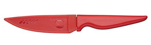 Kitchen Craft CWPARRED Couteau de Cuisine avec Étui de Protection, Acier Inoxydable, Rouge, 32 x 32 x 22 cm
