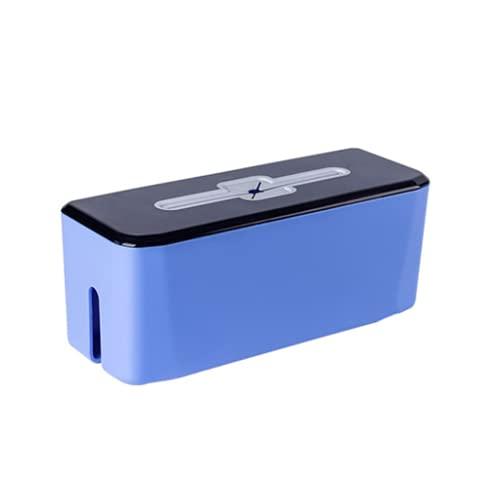 WYJRF Caja Organizadora de Cables Grande, Caja Organizadora de Organización de Cables con Almohadilla Antideslizante, Reduce la Fricción con la Mesa, 30X11X12Cm