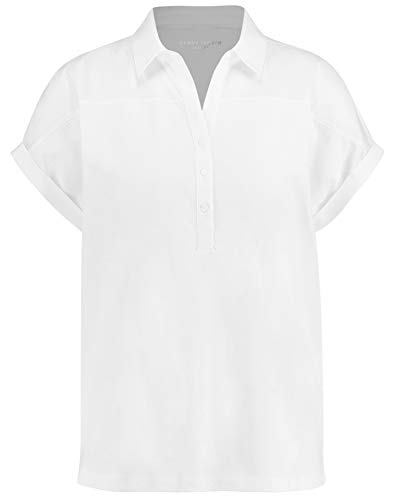 Gerry Weber Damen Poloshirt Aus Baumwolle Leger weiß/weiß 42