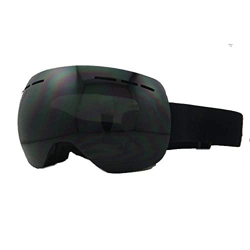 Gafas de esquí Gafas de esquí Gafas de esquí Dobles antivaho Gafas de esquí con imán sin Marco para Adultos Gafas Protectoras Deportivas (Color: Blanco) (Negro)