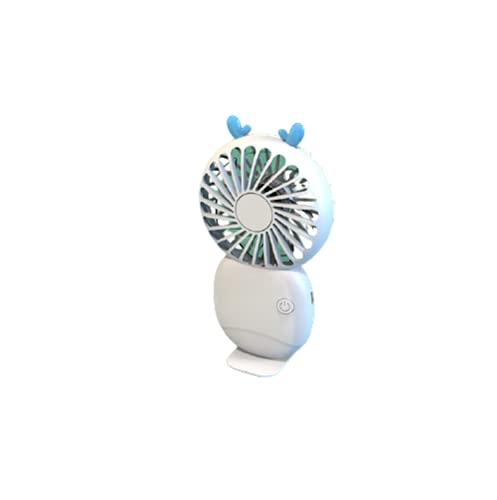 Ventilador de mano, ventilador de mano, funciona con pilas, ventilador de mano, recargable, bonito, blanco
