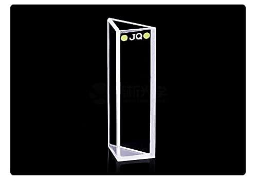 Xue Mei Zi Capacidad Triangular de Cuarzo Capacidad de la cubeta 1. 75ml Ángulo 90° Transmisión de luz: 80% Longitud de Onda aplicable 200 NM- 2500 NM Dimensiones 13x13x18. 4x45 mm (Color : 10PC)