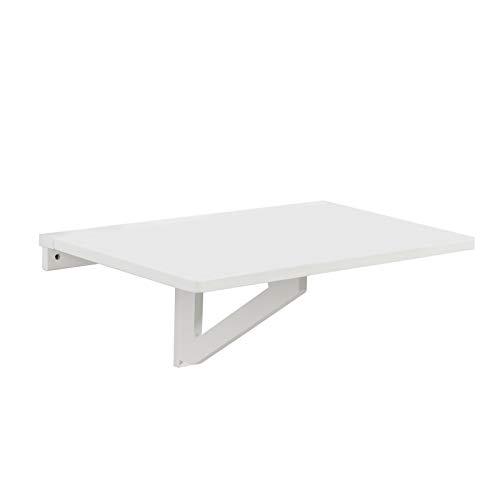 SoBuy® Tavolo da Muro Pieghevole in Legno 75 * 60cm, Bianco,Senza Sedia, FWT01-W,IT