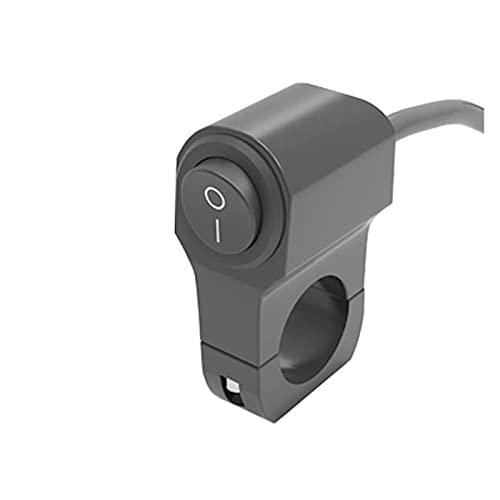 LIUXIAOKE Botón de Control de la Manillar de la Motocicleta de aleación de Aluminio Individual/Doble Interruptor eléctrico Impermeable Circuito de la Motocicleta Control de Interruptor (Color : A)