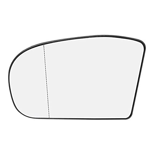 FUFU Conductor lateral izquierdo retro vista espejo de vidrio adecuado para MERCEDES-BENZ E-CLASE W211 2002-2008 W203 00-2004 2038100121 (Color : Silver)