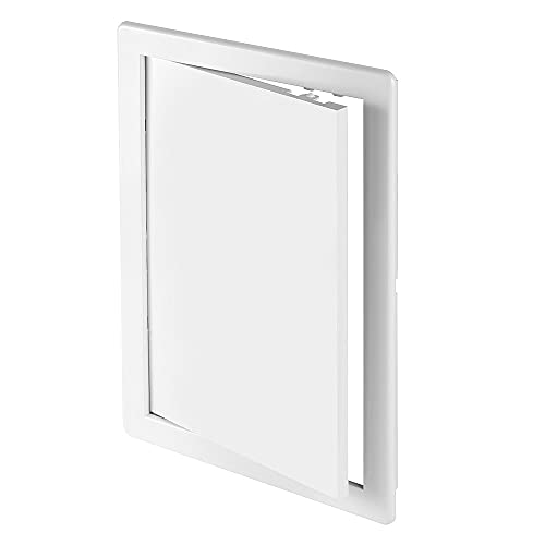 8' x 12' White Plastic Access Panel. Service Shaft Door Panel. Plumbing, Electricity, Heating, Alarm Wall Access Panel for Drywall. Bathroom Services Access Hole Cover.