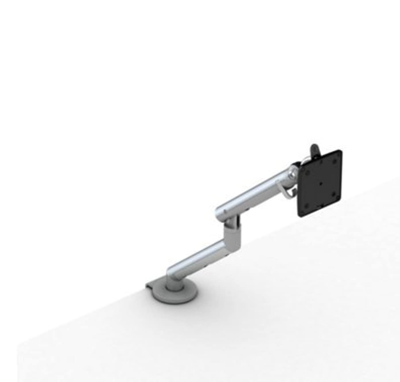 Herman Miller Flo Monitor Support: Surface Clamp - Single Monitor - Silver Finish