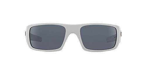 Oakley Men's OO9239 Crankshaft Rectangular Sunglasses, Polished White/Grey, 60 mm