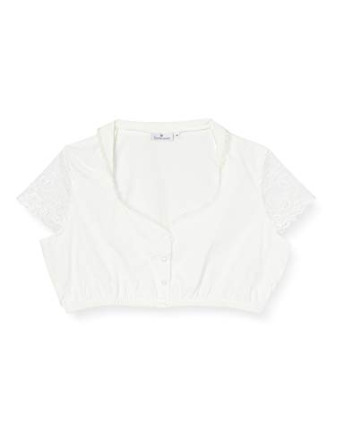 Stockerpoint Damen Dirndlbluse B-8058 Kleid für besondere Anlässe, Creme, 40