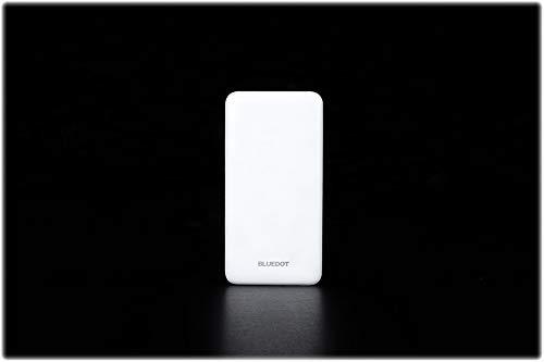 BLUEDOTモバイルバッテリーBMB-102(10000mAh/USB出力2ポート/最大2A出力/microUSB入力/残量表示LED)(白)