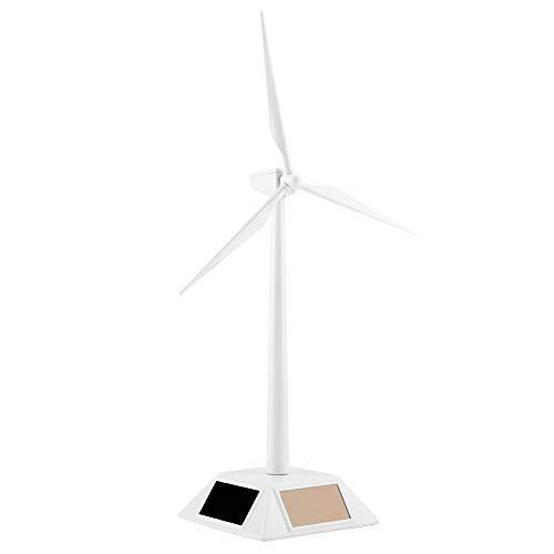 Raguso Windmühle Modell Mini Windmühle Modell Solarbetriebenes Desktop-Dekor Kindergeschenke