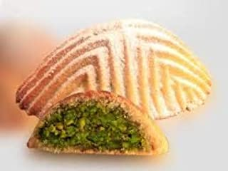 Maamoul Cookies Pistachio Filled| 38 Pieces (35 Oz)| Gourmet Oriental Dessert, Middle Eastern/Arabic Fistikli Baklava Pastry| Healthy Crackers, Gluten-Free, Non-GMO, Light Treats in Elegant Gift Box