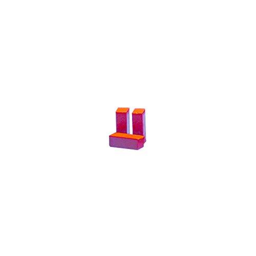 Rayher 3103218 Farbpigmente für Wachs und Kerzen-Gel, rot, 1 x 1 x 2,9 cm, Btl. 3 Stück, Kerzenwachs färben, intensive Farbgebung