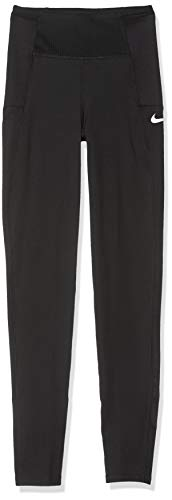 Nike Mädchen Sport Trousers G NK TGHT Train Studio PKT, Black/White, S, BV2796