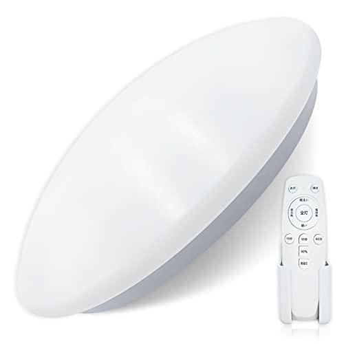 LED シーリングライト 6畳 24W無段階調光調色タイプ 暖色・冷色 調光機能 リモコン付き 3000-6500K 暖色 昼光色 昼白色 スリープタイマー 常夜灯モード メモリ機能 照明器具 昼光色 PSE認証済み 天井照明 日本語説明書付き (調光調色タイプ)
