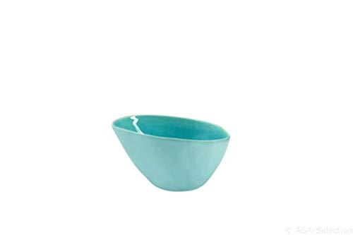 Bowl Verre Craquelé glazed Turquiose m