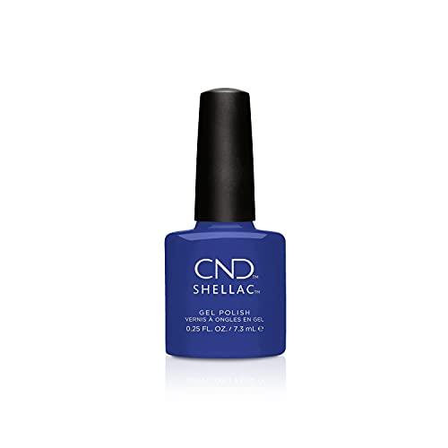 CND Shellac, Gel de manicura y pedicura (Tono Blue Eyeshadow) - 7.3 ml.