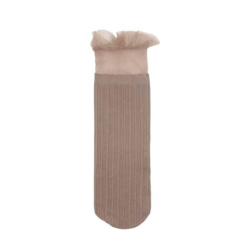 TENGCHUANGSM Calcetines laminados de terciopelo de encaje dulce, calcetines de mujer, simples y de moda, todos los partidos imprescindibles de