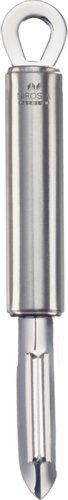 Fackelmann Schäler PREMIUM, Universalschäler aus Edelstahl, robuster Schäler für Gemüse und Obst mit scharfer Klinge (Farbe: Silber), Menge: 1 Stück