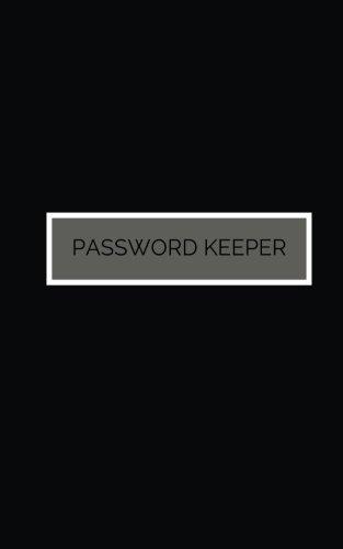 Password Keeper: Black Cover, Password Keeper, Internet Address, Logbook, Diary, information, internet safety, Journal, Notebook, Women, Men, Boys, Girls, Elderly, 5x8in small A-Z list