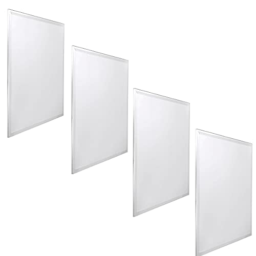 Jandei - 4x Panel LED 60x60cm 48W 6000K retroiluminado 3840lum marco blanco para teccho de placas tipo armstrong, hotel, oficina, industria